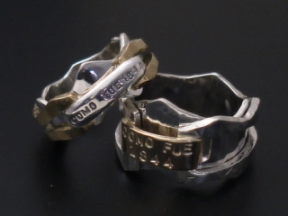 結婚指輪ゴールドとシルバー