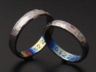 甲丸結婚指輪ハンマー
