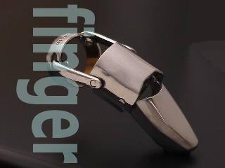チタン製動く関節リング義指