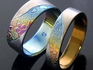 金属アレルギー対策の結婚指輪